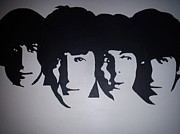 Fab Four  Paintings - The beatles by Graeme Mcgill