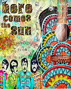 Sgt Peppers Painting Posters - The Beatles Here Comes the Sun Poster by Tara Richelle