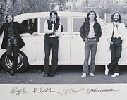 Autographed Photo Prints - The Beatles In Black And White Print by Donna Wilson
