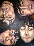Musicians Painting Originals - The Beatles Inspired Portrait by Misty Smith