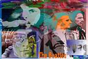 Beatles Digital Art - The Beatles by Jimi Bush