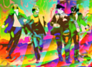 Beatles Digital Art - The Beatles Kaleidoscop 2e  by Marcello Cicchini