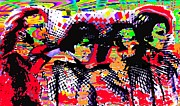 George Harrison Paintings - The Beatles Kaleidoscope  by Marcello Cicchini