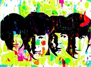 Beatles Digital Art Posters - The Beatles Poster by Marie-Diana Leveque