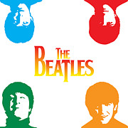 Photomonatage Posters - The Beatles No.01 Poster by Caio Caldas