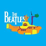 Bands Digital Art Prints - The Beatles No.11 Print by Caio Caldas