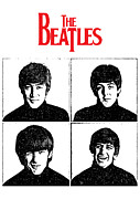 Beatles Digital Art Metal Prints - The Beatles No.12 Metal Print by Caio Caldas