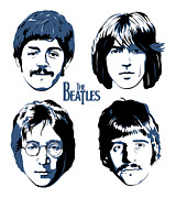Beatles Digital Art Metal Prints - The Beatles No.18 Metal Print by Caio Caldas