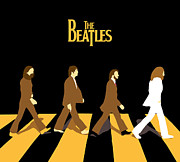 White Digital Art Posters - The Beatles No.19 Poster by Caio Caldas