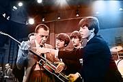 The Beatles On The Ed Sullivan Show Print by Marvin Blaine