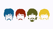 Beatles Digital Art - The Beatles Pop Art by David  Jones