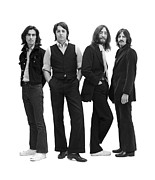Beatles Photo Metal Prints - The Beatles Poster Metal Print by Sanely Great