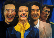 George Harrison Paintings - The Beatles by Roger  James
