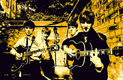 Beatles Digital Art - The Beatles by Stephen Lawrence Mitchell