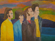 The Beatles Tribute Paintings - The Beatles - Strawberry Fields by Louisa Bryant