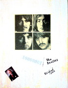 John Lennon Mixed Media Originals - The Beatles White Album A0000001 by Richard W Linford