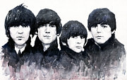 Watercolour Painting Metal Prints - The Beatles Metal Print by Yuriy  Shevchuk