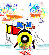 Abstract Drum Paintings - The Beats  by Brian Buckley