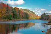 Adirondacks Photo Posters - The Beautiful Bald Mountain Pond Poster by David Patterson