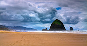 Ocean Scenes Framed Prints - The Beautiful Cannon Beach Framed Print by David Patterson