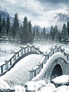 The Shepherdess Art - The Beautiful Gothic Winter Art by Boon Mee