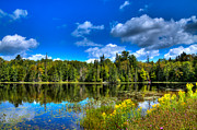 Fir Trees Photos - The Beautiful Lake Abanakee by David Patterson