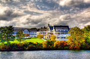 Fir Trees Framed Prints - The Beautiful Sagamore Hotel on Lake George Framed Print by David Patterson