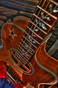 Lebron Prints - The Beauty Of A Six String Digital Guitar Art by Steven Langston Print by Steven Lebron Langston