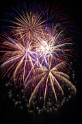 Pyrotechnics Metal Prints - The beauty of fireworks Metal Print by Garry Gay