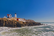 Nubble Lighthouse Prints - The Beauty of Nubble Print by Joann Vitali