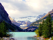 Lake Louise Photos - The Beauty Within by Karen Wiles