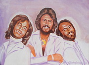 Disco Drawings - The BeeGees by Kean Butterfield