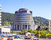 Beehive Prints - The Beehive Wellington New Zealand Print by Colin and Linda McKie