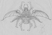 Beetle Drawings - The Beetle by London Olson