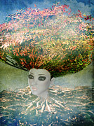Tree Roots Digital Art Posters - The Beginning Poster by Terry Fleckney