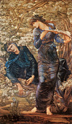 The Beguiling Of Merlin Paintings - The Beguiling of Merlin by Sir Edward Burne-Jones