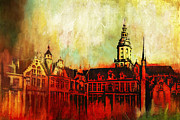 Port Town Framed Prints - The Belfries of Belgium and France  Framed Print by Catf