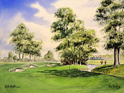 Pga European Tour Prints - The Belfry Brabazon 10Th Hole Print by Bill Holkham