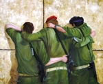Jerusalem Painting Originals - The Believers by Doris Cohen