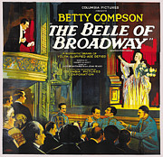Movie Posters Framed Prints - The Belle Of Broadway Framed Print by Columbia Pictures