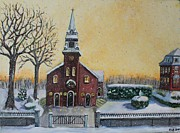 Waltham Prints - The Bells of St. Marys Print by Rita Brown