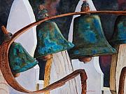 Bells Paintings - The Bells on the Garden Gate by John W Walker