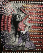 Pallet Knife Prints - The Belly dancer Print by Michael Kulick
