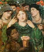 Fine Art  Of Women Painting Prints - The Beloved-The Bride Print by Dante Gabriel Rossetti