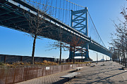 Benjamin Franklin Photos - The Ben Franklin Bridge by William Jobes