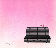 The Bench Print by Daniele Zambardi