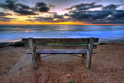 Beach Art Photos - The Bench II XLarge Print by Peter Tellone