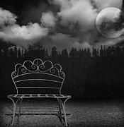 Photo Manipulation Photo Framed Prints - The Bench is Back Framed Print by Steven  Michael
