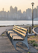 Harlem River Posters - The Bench Poster by JC Findley