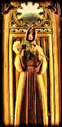 The Wooden Cross Metal Prints - The Benedictine Monk Metal Print by Lee Dos Santos